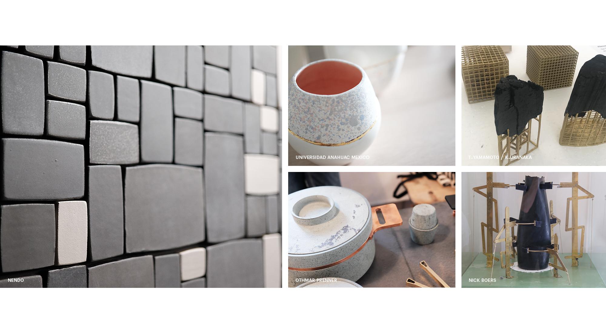 Image Collage Milan Design Week 2018 including tiles, cookware, cup, basket, wood, leather, fabric